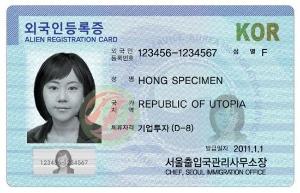 Chứng minh thư nhân dân Hàn Quốc hay còn gọi là thẻ đăng ký người nước ngoài
